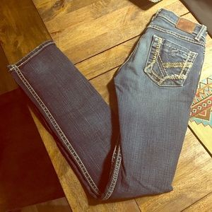 BKE skinny stretch jeans 25x31 1/2 junior low rise